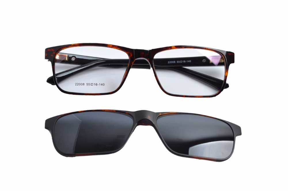 3114af0f926 EV 2017 Clip-on Sunglasses Fashion Polarized Men s Mirror Sun Glasses  Yellow lens for Night View Clipon TR90 Sunglasses EV1428