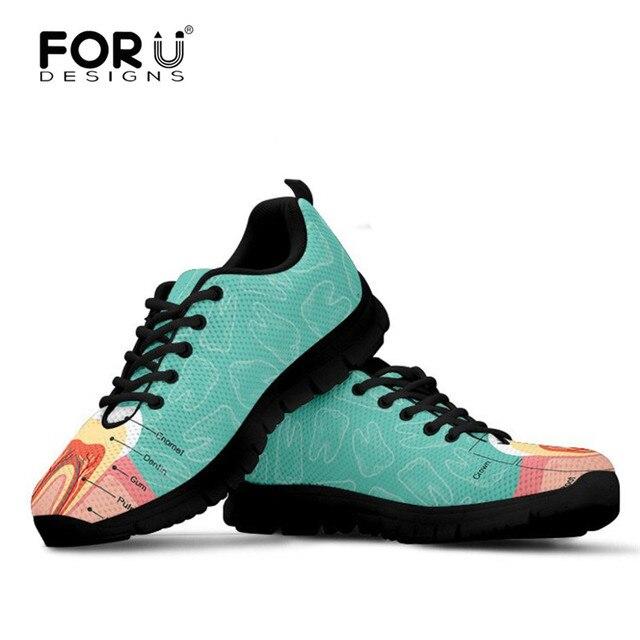 Promoción FORUDESIGNS Sneakers mujeres dentista zapatos de