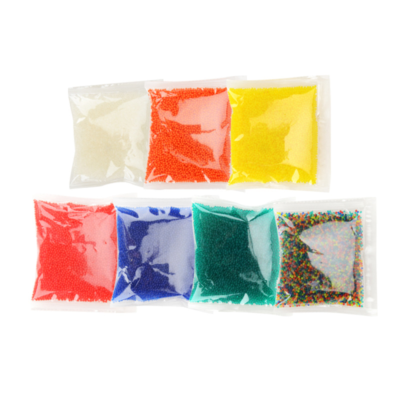 10000pcs/Bag 9-11 Colored Water Marbles Soft Crystal Water Paintball Bullet For Water Gun Grow Water Beads Balls Toy Accessories