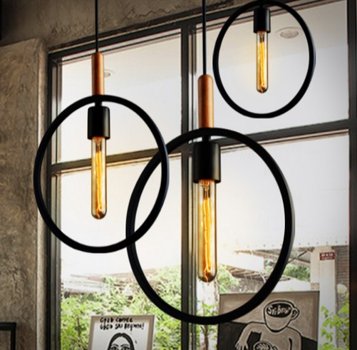 Nordic Loft Iron Art Retro Pendant Light Fixtures Industrial Vintage Lighting For Living Dining Room Bar Wood Hanging Lamp beppi beppi be099ambcv25