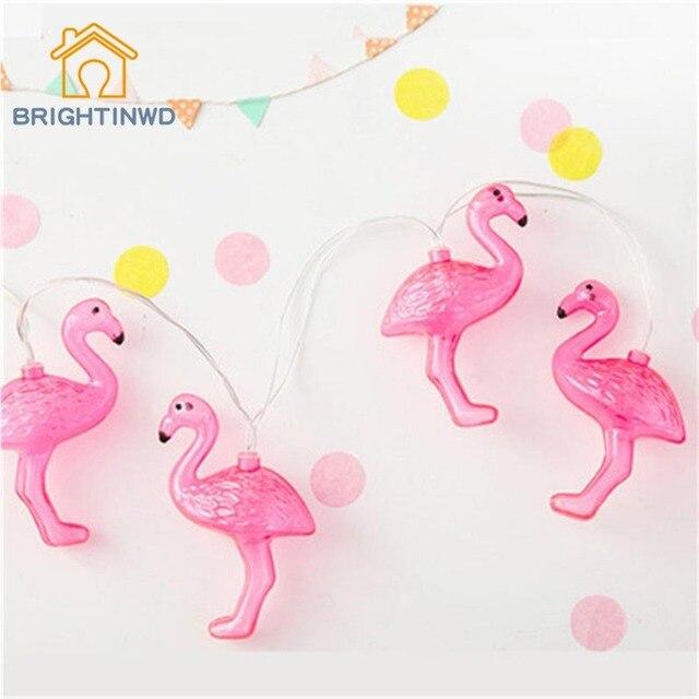 Flamingo Luces 10 LED Luz de la Secuencia de Hadas Fiesta de La Boda Decorativa Casera Caja de Baterías AA de La Muchacha Diseño de la Habitación de Decoración Linterna Patio