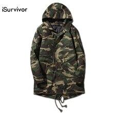 2016 männer Camouflage Jacken und Mäntel Jaqueta Masculina männer Casual Fashion Slim Fit Winter Gepolsterte Baumwolle Jacken Outwear Männlich