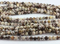 100% Natural Zebra Jasper Australia Zerba Stone Bead 4,6, 8,10 ,12mm round stone loose beads for jewelry making 1string