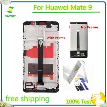 % 100% Test Edilmiş Yok Ölü Piksel Hiçbir Nokta Için Mate 9 lcd ekran dokunmatik ekranlı sayısallaştırıcı grup Huawei Mate 9 Için MHA L09 MHA L29|Cep Telefonu LCD'leri|   -
