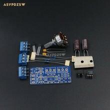 P7 MINI Preamplificador DIY Kit 4580D JRC Op-amp $ number veces la ganancia de amplificación de Bajo ruido AC 12V-0V-12V
