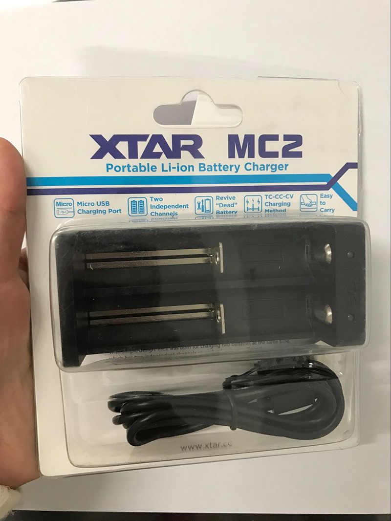 XTAR MC2 универсальный Смарт интеллектуальные Зарядное устройство 3,7 В автоматического выключения для 14500 16340 17500 18350 18500 18650 18700 Li-Ion Батарея USB Порты и разъёмы
