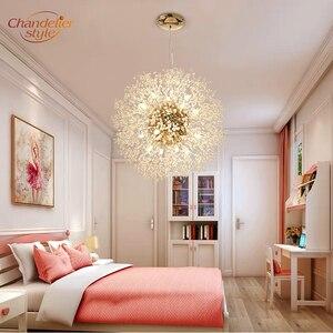 Image 5 - 現代クリスタルシャンデリア照明グローブクリスタルシャンデリアライトラウンドホームレストランの装飾用のランプ備品ハンギング