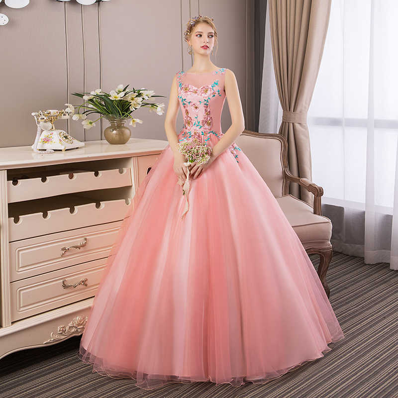 a03894c48 ... 2018 New Elegant Embroidery Quinceanera Dresses Luxury Party Prom Ball Gown  Vestidos De 15 Anos Debutante ...