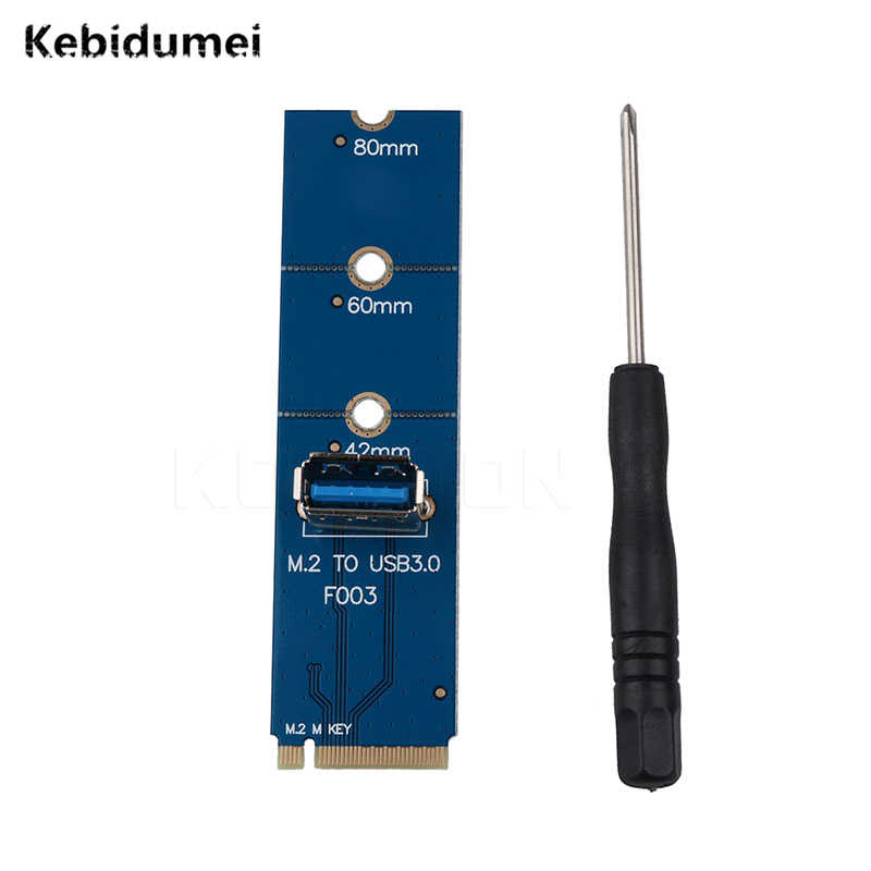 Kebidumei NGFF M2 a USB3.0 adaptador M2 a USB3.0 para PCI-E tarjeta elevadora para Bitcoin Litecoin Mining Machine