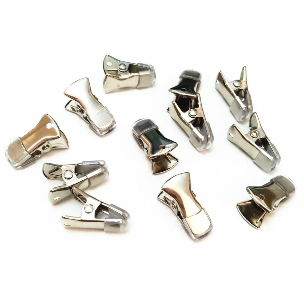 12 Teile/los Silber Überzogene Vielseitig Für Diy Pullover Strickjacke Clips Mit Gummi Fällen Brillen Id Abzeichen Schmuck Grip Clip Schutz