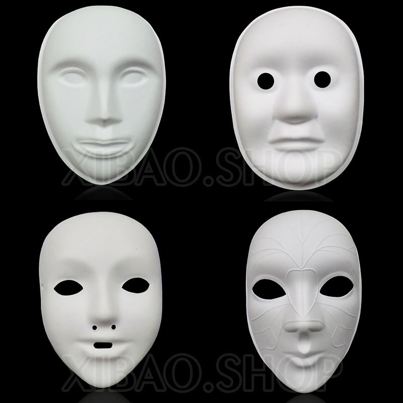 Thicken Unpainted Paper Mache Masks Full Face To Decorate DIY Amazing Paper Mache Masks To Decorate
