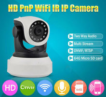 720P Wireless IP Camera Wifi Onvif Video Surveillance Security CCTV Network Wi Fi Camera Infrared IR 2 Way Audio TF Card Slot