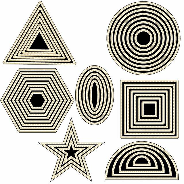 צורות גיאומטריות שונות מתכת חיתוך מת שבלונות עבור DIY רעיונות/אלבום תמונות דקורטיבי הבלטות DIY נייר כרטיסים