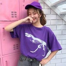 Korean Fashion Print T Shirt Women Clothes 2019 Summer Oversized Cotton Woman Tshirt Tops Harajuku Aesthetic Tee Femme