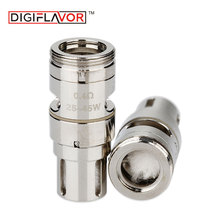 Wholesale 1/2/5 Packs Digiflavor Espresso GVC-1 Coil 5pcs 0.4ohm Ni80 Clapton Core Head for Espresso 22 Subohm Tank Atomizer