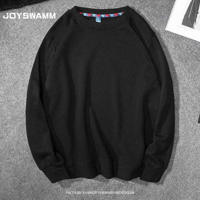 Causal Solid Hoodies Men Women Fashion Hoodie Pullover Youth College Sweatshirts Men No Hood O Neck Spring Autumn White Black