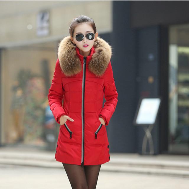 Moda Inverno Jackect Pele Das Mulheres Com Capuz de Algodão de Alta Qualidade do Sexo Feminino Grosso Quente Para Baixo Casaco Fino Casaco de Inverno Casacos Parka A-17
