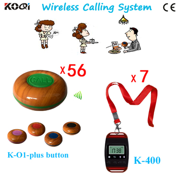 New!!!KOQI Waterproof Pager Wireless Calling System Restaurant Service Waiter Calling/Call Button Bell