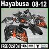 7 Free Gifts Injection Mold Fairing Kit For SUZUKI Hayabusa Fairings GSXR1300 2008 2014 Brown Black