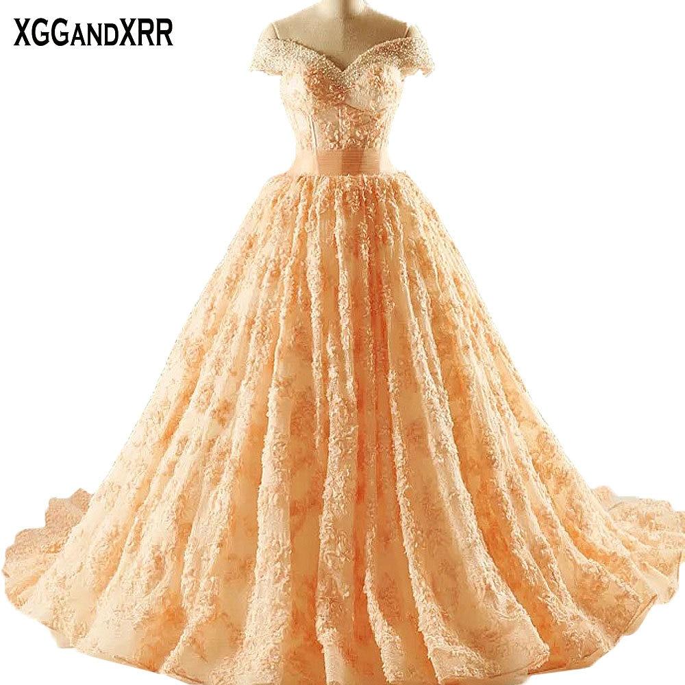 الأميرة الأورجانزا الدانتيل الكرة - فساتين المناسبات الخاصة