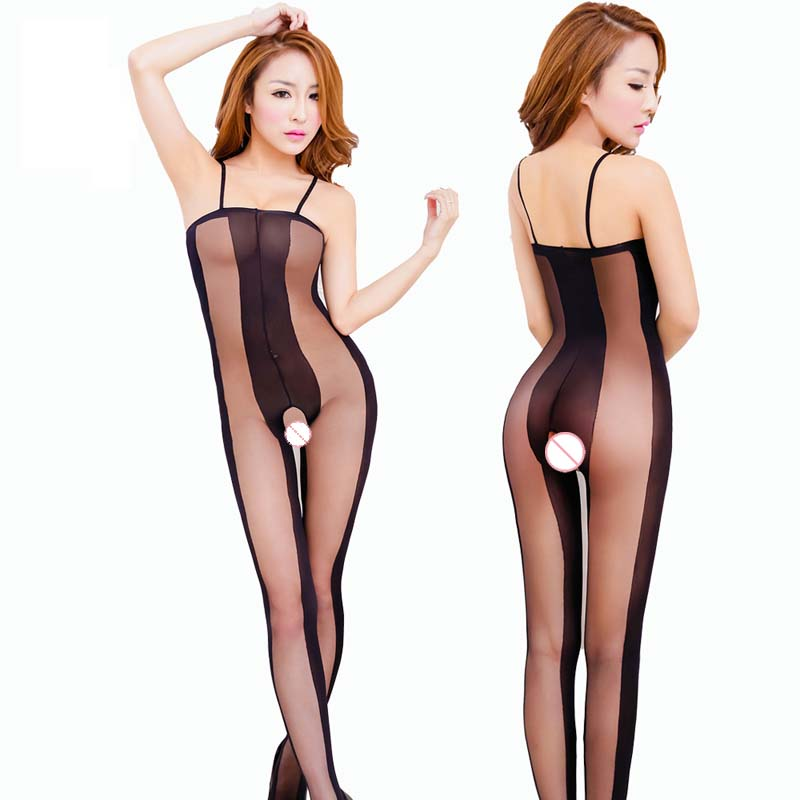 NDFSOUL-W19 Black Sexy Erotic Lingerie Women Hot Bodysuit Sexy Costumes Transparent Intimates Womens Bodystocking Open crotch