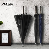 OLYCAT Large Women Umbrella Rain Women 24K Windproof Male Walking Stick Umbrellas Men Golf Sun Paraguas
