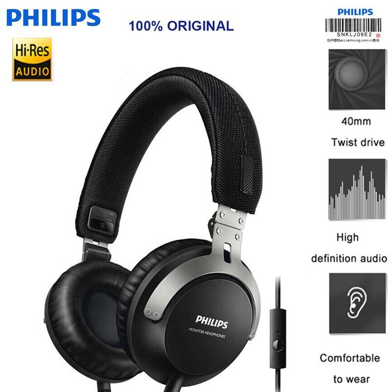 original Philips Shl3565 Wired Headset With Bass 3 5mm Plug Adjustable Headband Music Movie For HAUWEI
