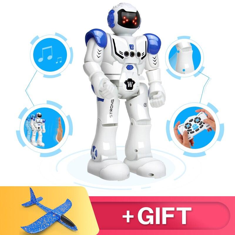 DODOELEPHANT Robot de carga USB bailando gesto figura de acción de juguete Robot RC Robot de juguete para niños de los niños regalo de cumpleaños