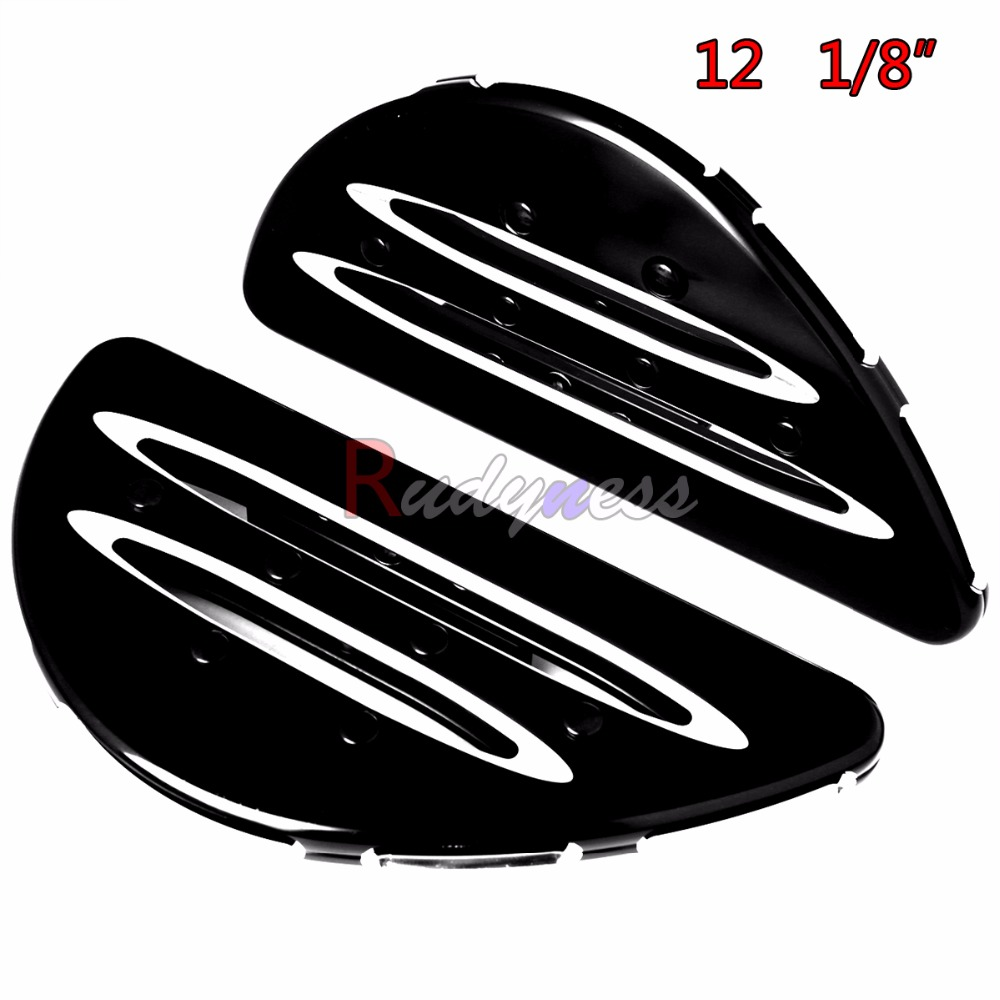 Rear Big 12 1/8 inch Passenger Floorboards For Harley Touring Electra Glide FLH/T Road King 2008-2017 ModelsRear Big 12 1/8 inch Passenger Floorboards For Harley Touring Electra Glide FLH/T Road King 2008-2017 Models