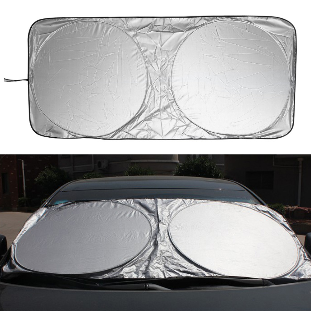 VODOOL 150x70cm Car Windshield Sunshade Front Rear Window Sun Shade Visor Shield Cover Solar UV Protection Curtain Parasol Coche