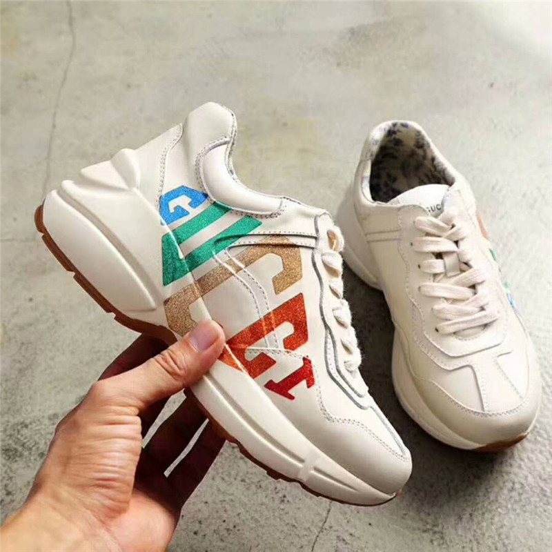 2018 ouyilu Man Woman Brand Women Running Shoes Men Sneakers Outdoor jogging Antiskid and wear-resistant Genuine Leather 35-39