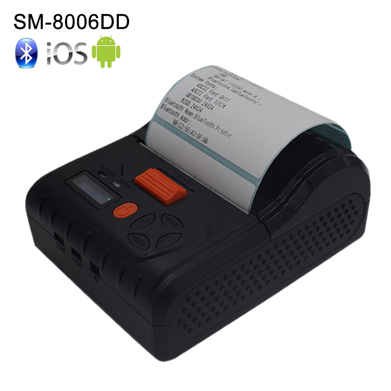 Mini 80mm Portable Bluetooth Barcode Thermal Label Printer Handheld Mobile POS Label Thermal Printer Support Android IOS WindowsMini 80mm Portable Bluetooth Barcode Thermal Label Printer Handheld Mobile POS Label Thermal Printer Support Android IOS Windows