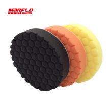 Car Paint Care Polishing Sponge Pad Remove Moderate For Both Rotary and DA Polishers Use High Qaulity MARFLO by Brilliatech