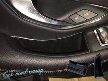 Для Mercedes-Benz C-Class 2-двери купе 2016 2017 Пластик подкладке двери автомобиля коробка для хранения держатель крышка отделка 2 шт. автомобиля Styling!