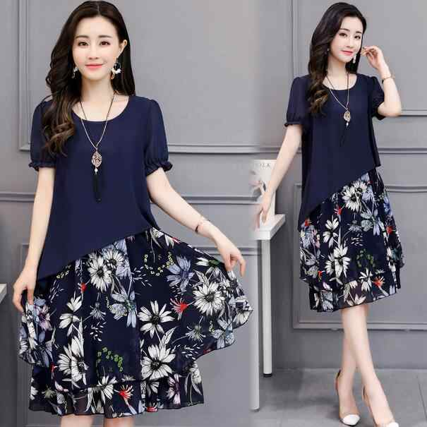 Dresses Of The Big Sizes Women Clothing 2018 Autumn Summer Style korean  Vestidos Fashion Thin New 7ade5f802c33