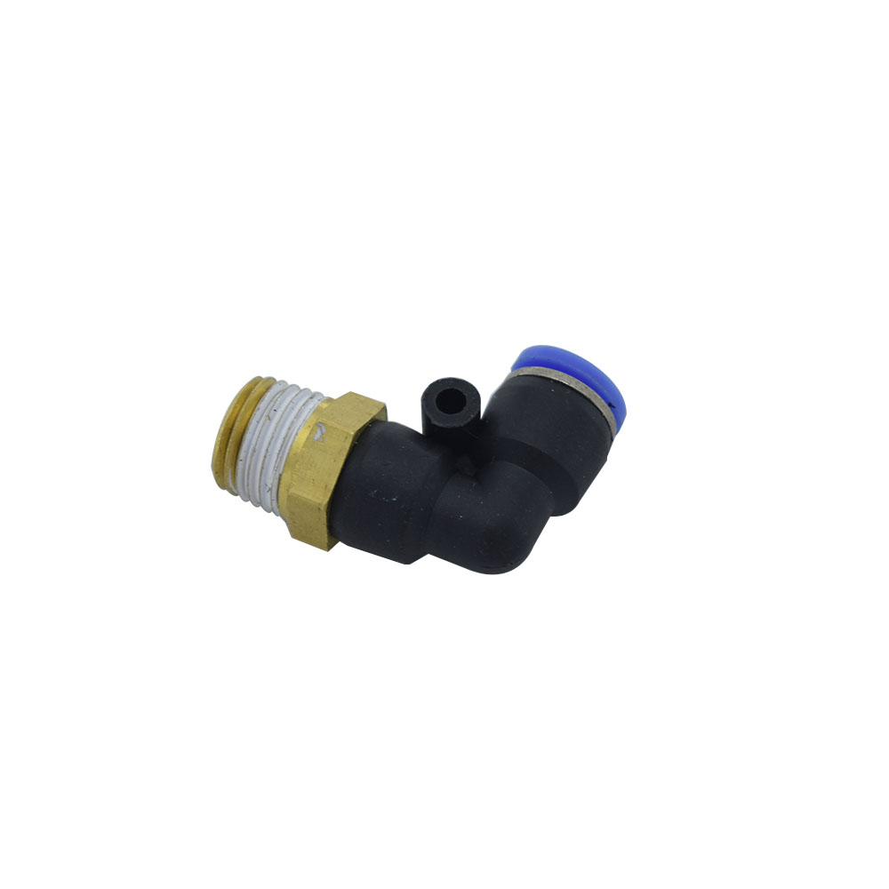 8mm Dia Quick Pneumatic Connectors 1 8 quot 1 4 quot 3 8 quot 1 2 quot Thread Pipe Joint Fittings PL8 M5 PL8 01 PL8 02 PL8 03 PL8 04 in Pipe Fittings from Home Improvement