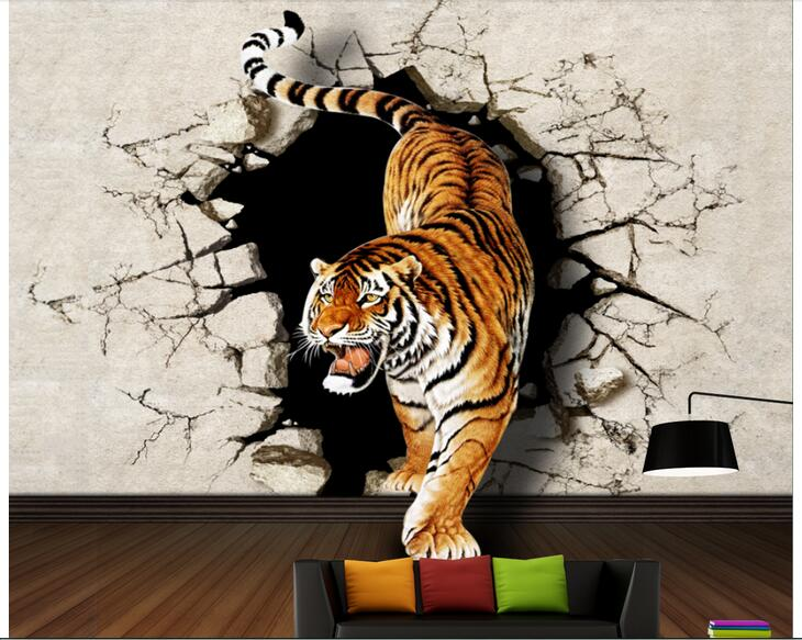 Personalizado foto diseños 3d papel tapiz para habitación mural no tejida los tigres a la pared del fondo pintura wallpape para paredes 3 d