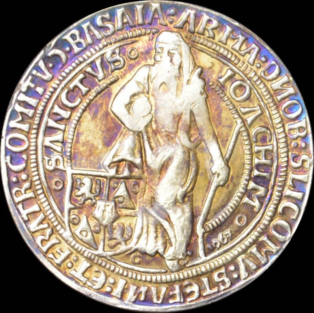1520 Münzen Zählen Schlick Zwei Thaler Joachimsthaler Messing Silber
