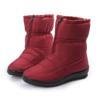 Snow Boots 2016 Winter Brand Warm Non Slip Waterproof Women Boots Mother Shoes Casual Cotton Winter