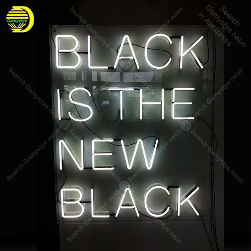 все цены на Neon for Black is new black NEON Bulbs LampGLASS Tube Decor Wall Club BedRoom Handcraft wholesale Artwork neon light decor 19x15