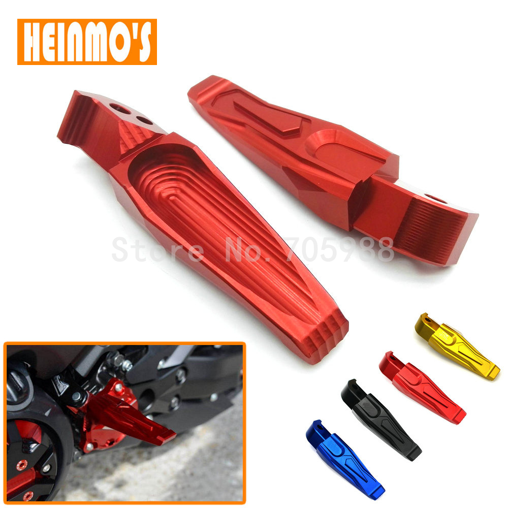 Red Black Motorcycle CNC Aluminum Rear Foot Peg Footrest Rear Passenger Footrest For YAMAHA TMAX 500 T-MAX530 MT07 MT09 hot sale motorcycle t max cnc aluminum