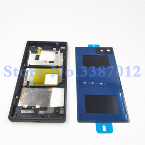 Image 5 - Original Full Housing LCD Panel Middle Frame For Sony Xperia Z5 Compact E5803 E5823 Battery door Cover Side Button With Logo