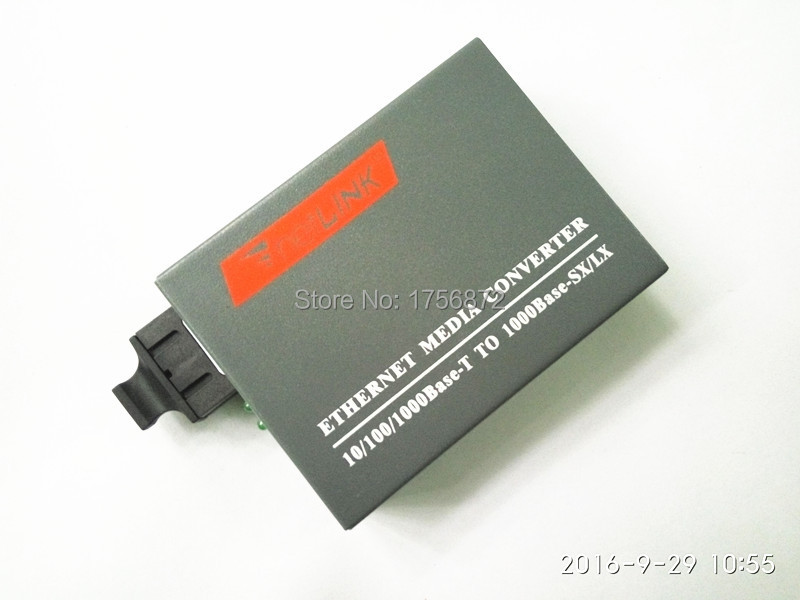 HTB-GS-03 Gigabit Fiber Optical Media Converter 1000Mbps Single Mode Duplex SC Port 20KM External Power Supply