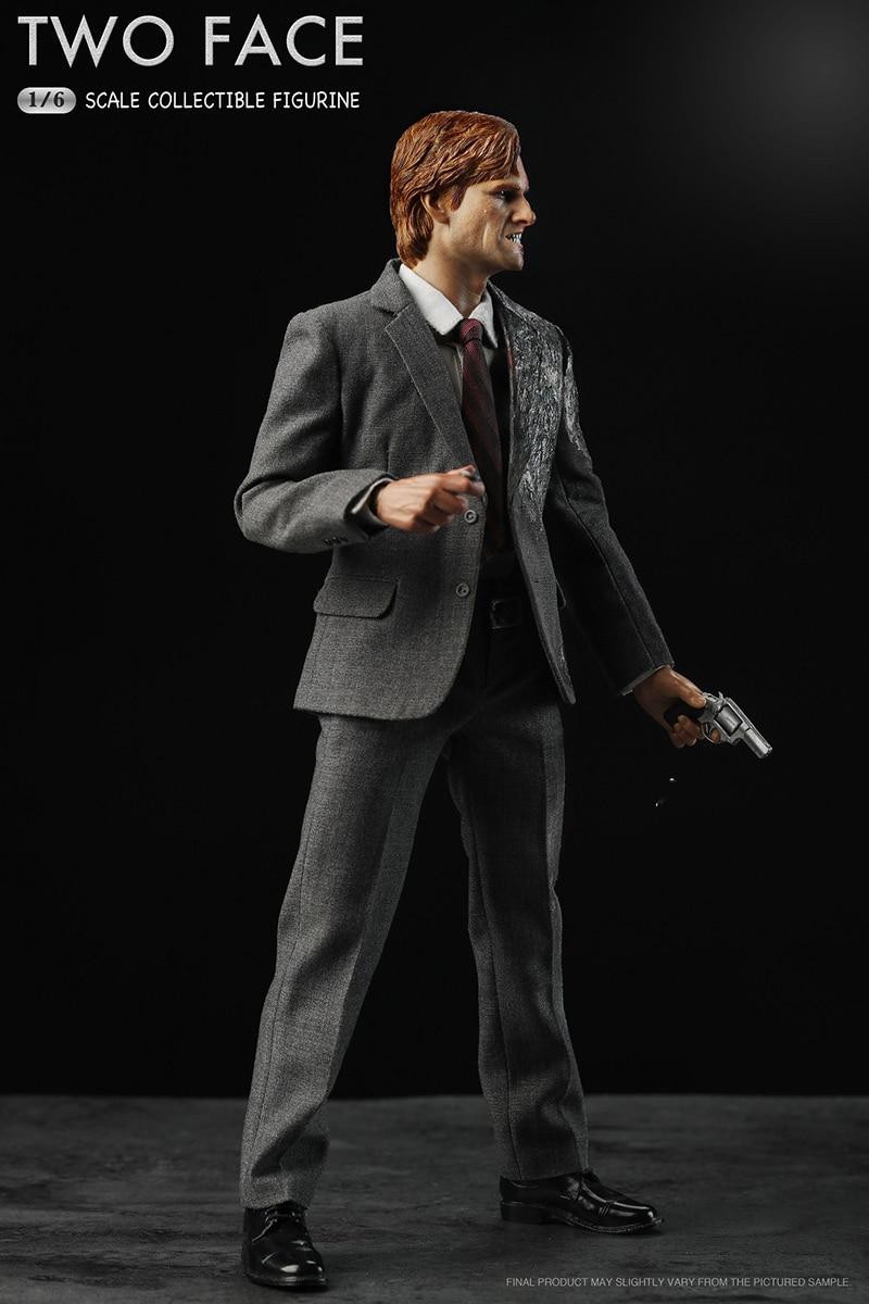 Collection 1/6 jouets nerveux à l'échelle 1/6 deux-Face Harvey Apollo dent figure poupée avec support ensemble complet figurine action jouets cadeau recueillir