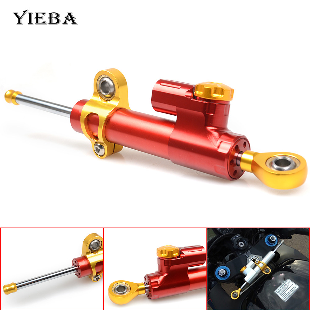 Universal Motorcycle CNC Damper Steering Stabilize Safety Control For YAMAHA YZF R25 YZF R3 YBR 125 YZF R15 XT660 TMAX 500 530 цена