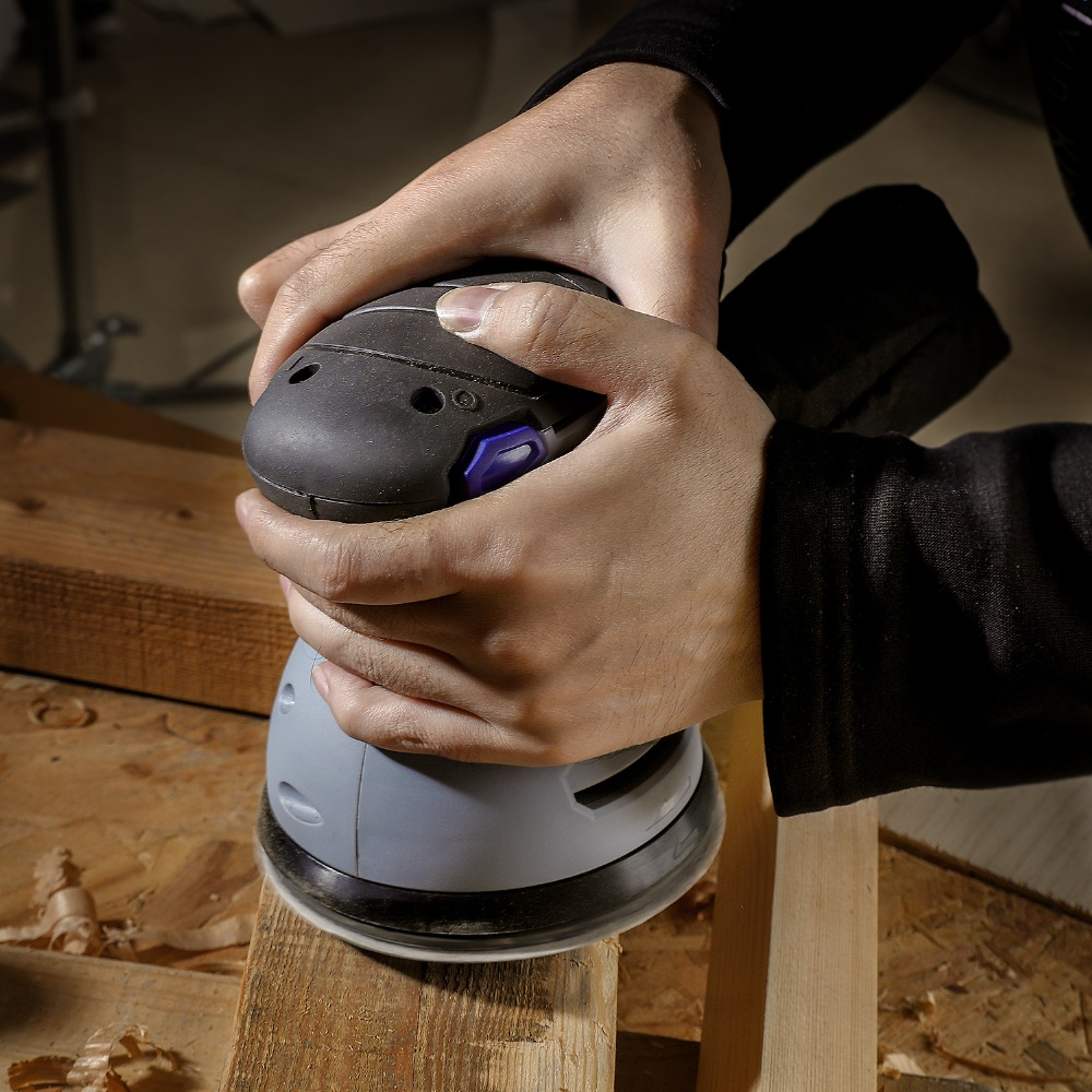 Image 4 - WORKPRO 300W Random Sander with Variable Speed Random Orbit Sander with 10PC sandpaper Dust exhaust and Hybrid dust canister-in Sanders from Tools on