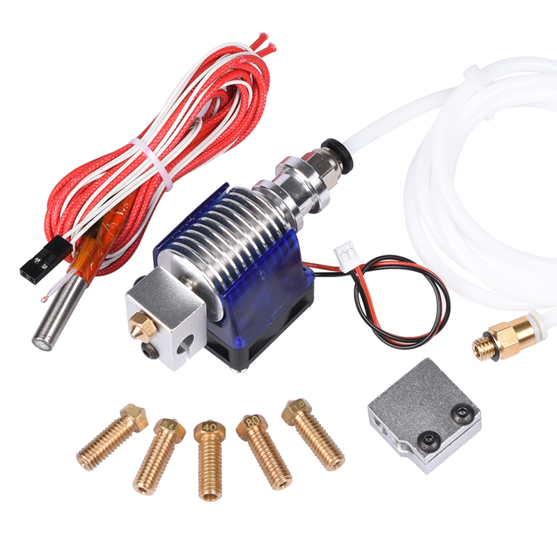 3D V6 J-head Hotend Bowden Extruder With Fan 12V Heater PTFE 1.75/3.0mm Filament Wade Extruder Volcano Nozzle For 3D Printer j walk fan meeting seoul