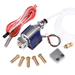 3D V6 J head Hotend Bowden Extruder With Fan 12V Heater PTFE 1.75/3.0mm Filament Wade Extruder Volcano Nozzle For 3D Printer|3d v6|hotend bowden|volcano kit -