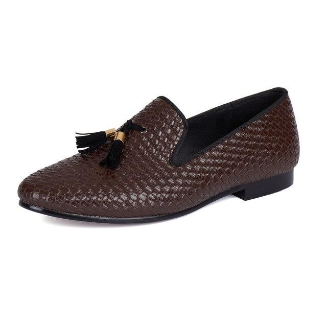 Harpelunde Men Dress Shoes Tassel Wedding Loafers Us Size 6 14 In