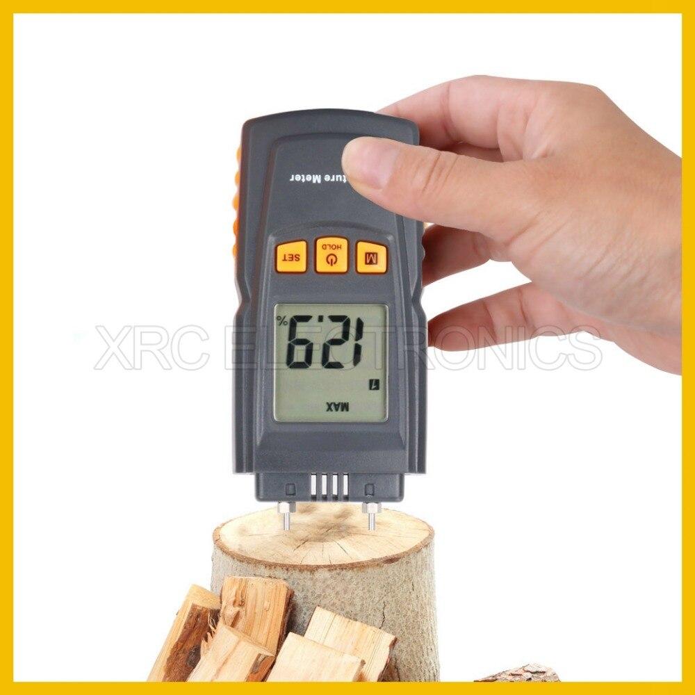 Rz St8040 Professionelle Holz Feuchtigkeit Meter Große Lcd Display Mit Hintergrundbeleuchtung Temperatur Werkzeuge